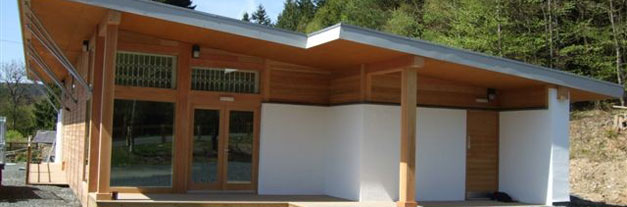 Kielder Bike Hire Centre: Newly constructed timber framed building